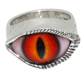 Crazy Pig Designs(クレイジーピッグ) ラッシュアイリング(レッド/キャッツアイ) Lash eye #9 人気ブランド 義眼リング