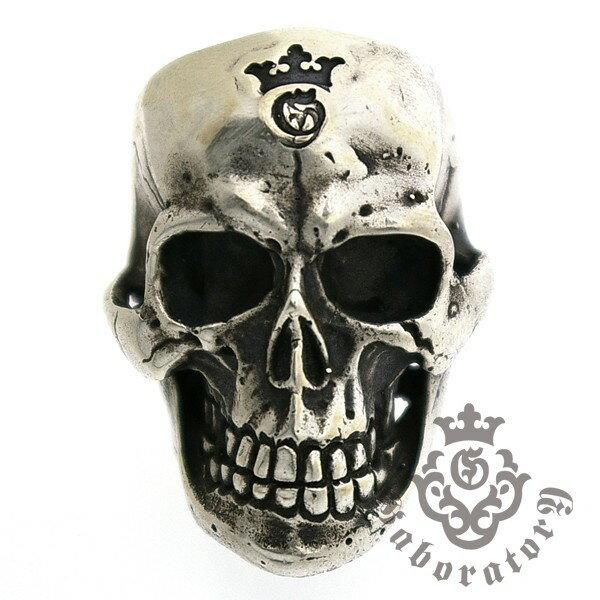 Gaboratory(ガボラトリー) Large Skull Ring with Jaw ラージスカルリングw/ジョー157-A l ガボラトリー ガボール 正規品 送料無料 誕生日 プレゼント ギフト レディース メンズ アクセサリー シルバー 925 リング ペア 大人気