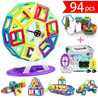 【全国送料無料】iKing マグネットブロック おもちゃ ブロック マグト クリエイティブセット 磁石 ブロック 積み木 子供 女の子 男の子 玩具 色彩・図形 想像力と創造力を育てる知育 贈り物 誕生日 プレゼント