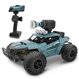 ラジコンカー こども向け オフロード RCカー カメラ付き 1/16 操作時間30分 時速20km/h 2.4GHz WiFi FPVリアルタイム リモコンカー 子供向け 防振性抜群 走破性抜群 おもちゃ プレゼント 贈り物【楽