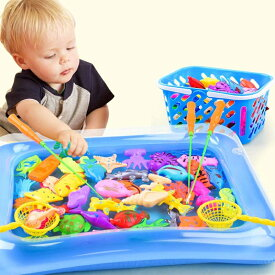 魚釣りゲーム 釣り遊び 磁気釣りおもちゃ 磁石 楽しい釣りカード 知育おもちゃ 親子プレイゲーム プール付き 屋内 出産祝い プレゼント 30個セット【海外通販】