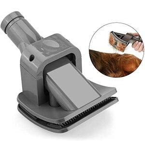 ペット用ブラシ ペット用 掃除機アクセサリー グルーミングツール スリッカーブラシ 猫 犬用 ペット ブラシ 櫛 毛取りツール セルフクリーニング機能付き グルーミング ダイソンV6 V7 V8 V10 V1