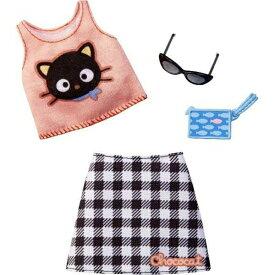バービー ファッションパック チョコキャット トップス&格子柄スカート/ 服 かばん、アクセサリー(Barbie Clothes: Chococat Outfit for Barbie Doll & 2 Accessories / MATTEL/ FXK80)