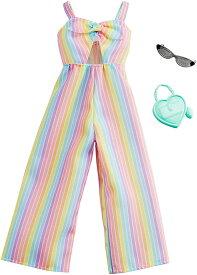 バービー ファッション パック ストライプ柄 ジャンプスーツ (Barbie Clothes: Rainbow-Striped Jumpsuit MATTEL GHW76 服 かばん アクセサリー サングラス)