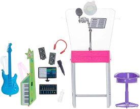 バービー ミュージシャンレコーディングセット (Barbie Career Playset Musician Recording Studio /GJL67 /MATTEL社/ドール付属せず)