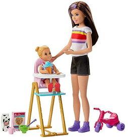 バービー 「スキッパーのベビーシッター」ドール(2体)&お食事セット2 (Barbie Skipper Babysitters Inc. Feeding Playset /GHV87/MATTEL社/バービー人形,ハウス)