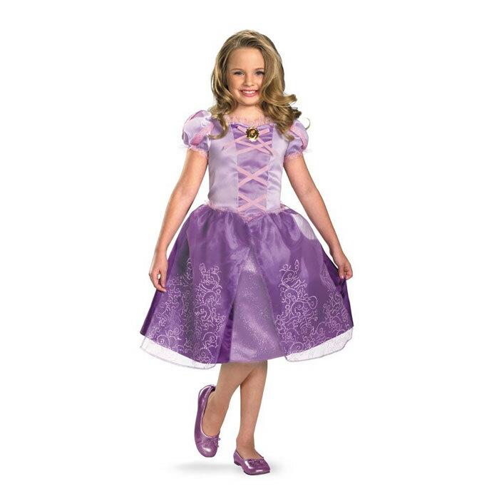 ディズニープリンセス コスチュームドレス(塔の上のラプンツェル/子供/仮装/衣装)