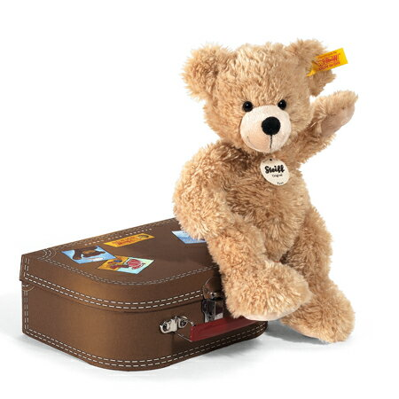 シュタイフ テディベア フィン スーツケース 28cm [ぬいぐるみ/Steiff/111471/くま/ベージュ]
