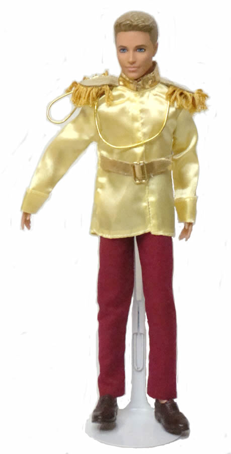 バービー ケン 着せ替え用/洋服 Ken16 (Ken 2 piece Prince Charming Outfit in Yellow and Maroon Made to Fit the Ken Doll)