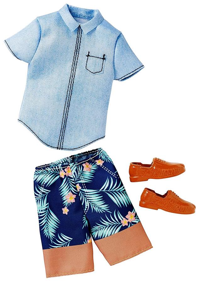 バービー ケン ファッションパック ハワイアンスタイル/洋服・靴 [Barbie Ken Hawaiian Style/MATTEL/DWG76]