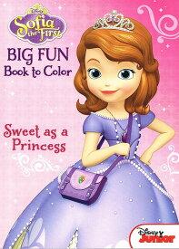 ディズニー「ちいさなプリンセス ソフィア」 ぬりえ&クイズブック「かわいいプリンセス」(Disney/Sofia the First/Sweet as a Princess/英語)