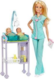 バービー 新生児科医 ドール(3体)&プレイセット (Barbie Careers Baby Doctor Playset / DVG10 /MATTEL社/バービー人形,ハウス,赤ちゃん,先生)