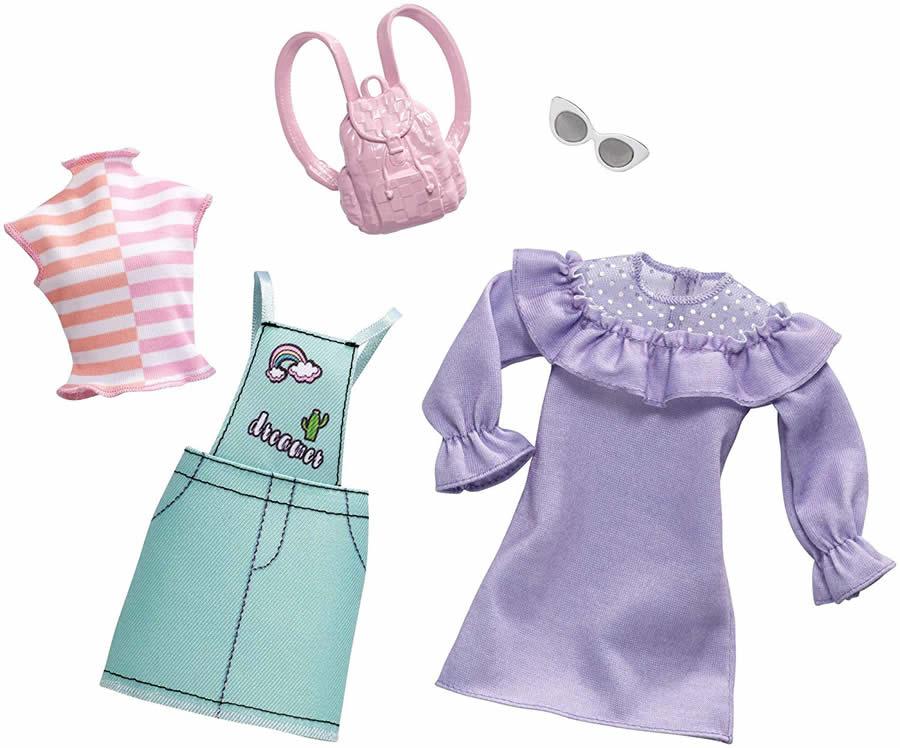 バービー ファッションパック 2着セット (パステルオーバーオール)/洋服 かばん アクセサリー (Barbie Pastel Overall Fashion Pack/ MATTEL/FXJ64)