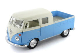 KiNSMART 1/34 VWバス Wキャブピックアップ ライトブルー (1963 VW double Cab Pickup)