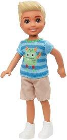 バービー 「クラブチェルシー」 男の子ドール モンスターシャツ [Barbie Club Chelsea Boy Doll (6-inch Blonde) with Monster Graphic Shirt and Shorts /MATTEL/GHV67 /ケン人形]