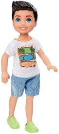 バービー 「クラブチェルシー」 男の子ドール スケボー シャツ [Barbie Club Chelsea Boy Doll (6-inch Brunette) with Skateboard Shirt and Shorts /MATTEL/GHV64 /ケン人形]