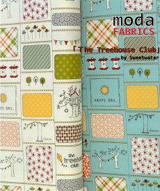 【ポイント10倍】生地 モダUSAファブリックSweetwater《The Treehouse Club》≪木の家≫【50cm単位販売】【メール便は3mまで可】【モダ/moda fabrics/布/布地】【USAコットン/キルト】(MA23)