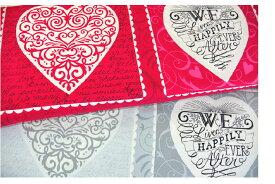 【ポイント10倍】生地 モダUSAファブリック《バレンタインのハート柄》》【約60cm(パネル)単位で販売/メール便は3mまで可】【モダ/moda fabrics/布/布地/ハート柄/USAコットン/バレンタイン】(MA23)