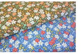 【ポイント10倍】生地 モダUSAファブリック《クロエ風花柄》【50cm単位販売 メール便は3mまで可】【モダ/moda fabrics/布/布地/花柄/フラワー/USAコットン】(MA23)