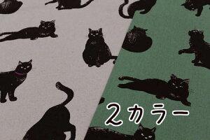 ◇生地綿麻キャンバスPtビック猫