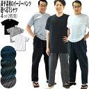 甚平 しじら 素材 の イージーパンツ + Tシャツ tシャツ 上下組 メンズ 綿100%(コットン100%) 父の日 ラッピング無料リラックス ウ…