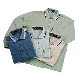 長袖 ポロシャツ 胸ポケット付き メンズ バーズアイ鹿の子織 紳士 ブランド 長袖ポロシャツ MEN'S CLUB JEANS メンズクラブジーンズ