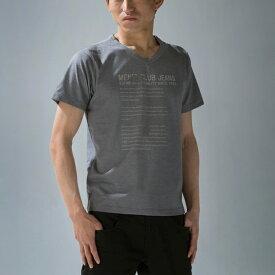 Tシャツ プリント Vネック メンズ ブランド メンズ 吸汗 速乾 加工 半袖Tシャツ キレイ系Tシャツ ・T/C65/35 【メール便 送料無料・あす楽お急ぎ運送便選択可能】