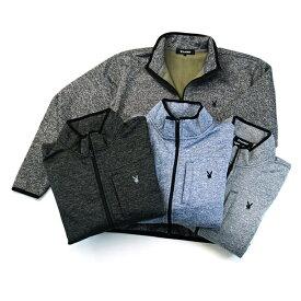 防風 フルジップ ジャケット 裏フリース 長袖 メンズ プレイボーイ PLAYBOY あったか ポカポカ 冬 部屋着 トレーナー スエット ワンポイント刺繍 別売りパンツとセットアップ可能 パジャマ 紳士