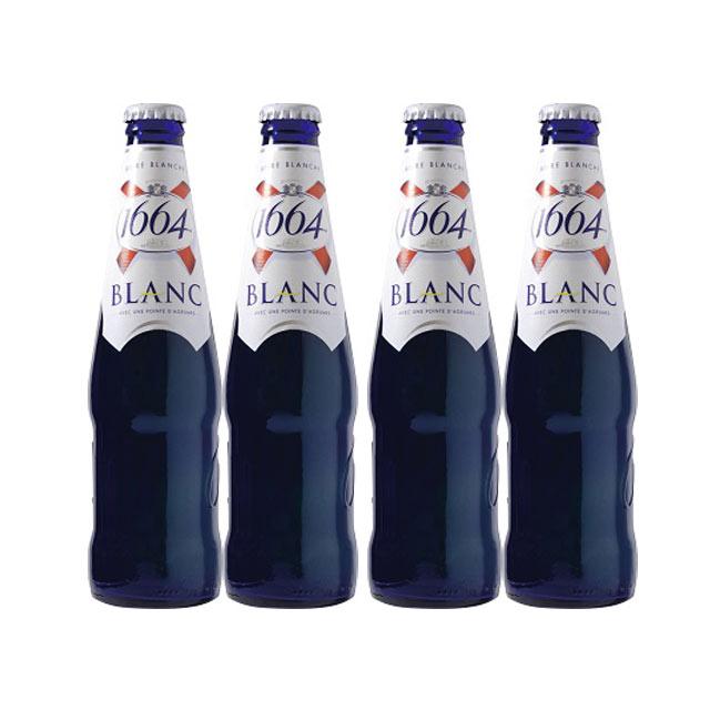 クローネンブルグ・ブラン 1664 330ml瓶×4本 白ビール 【フランスビール アルザス】