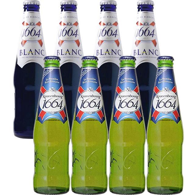 クローネンブルグ 1664 8本セット ピルスナー&ホワイトビール 【フランスビール アルザス】
