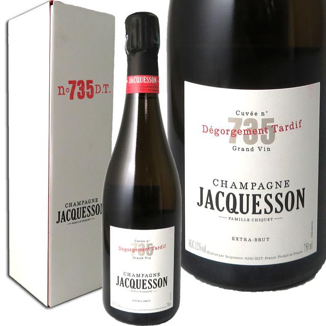 ジャクソン キュヴェ735 DT デゴルジュマン・タルディブ 箱入  JACQUESSON CUVEE 735 DEGORGEMENT TARDIF