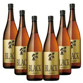 伊佐大泉 BLACK 黒麹 25度 1800ml×6本 セット 芋焼酎 【新商品】【送料無料】※北海道・東北地区は、別途送料1000円が発生します。