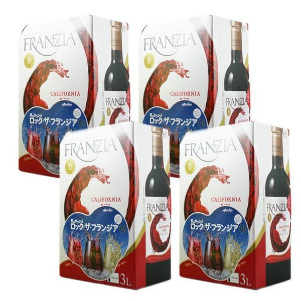 【送料無料 大容量】フランジア 赤 3L×4本 バッグ・イン・ボックス FRANZIA