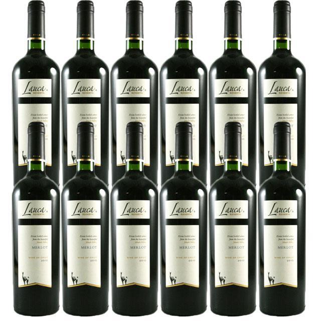 【送料無料 安定の大人気チリワイン】ラウカ 【リゼルヴァ】 メルロー 12本セット
