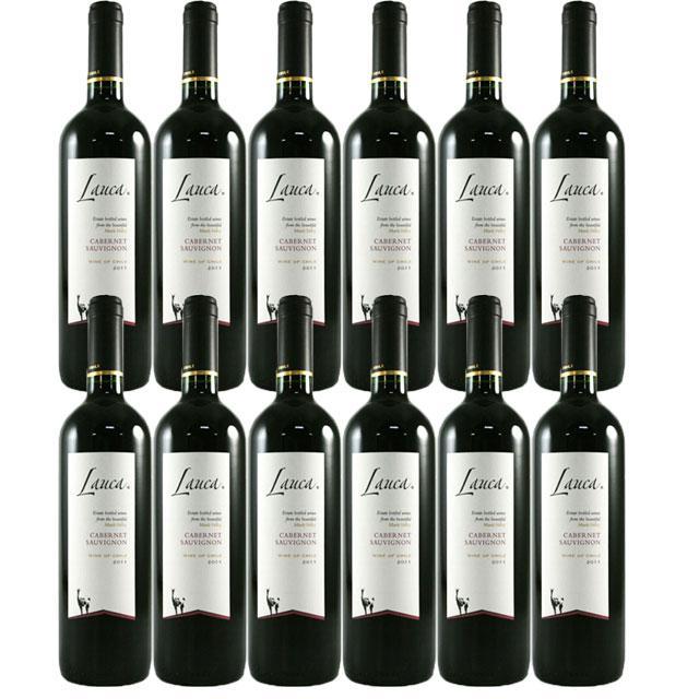 【送料無料 安定の大人気チリワイン】ラウカ カベルネ・ソーヴィニヨン 12本セット
