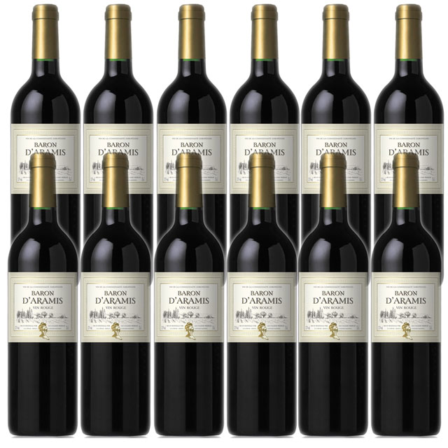 【送料無料 フランス産デイリーワイン】バロン ダラミス ルージュ 750ml×12本 Baron d'Aramis Rouge