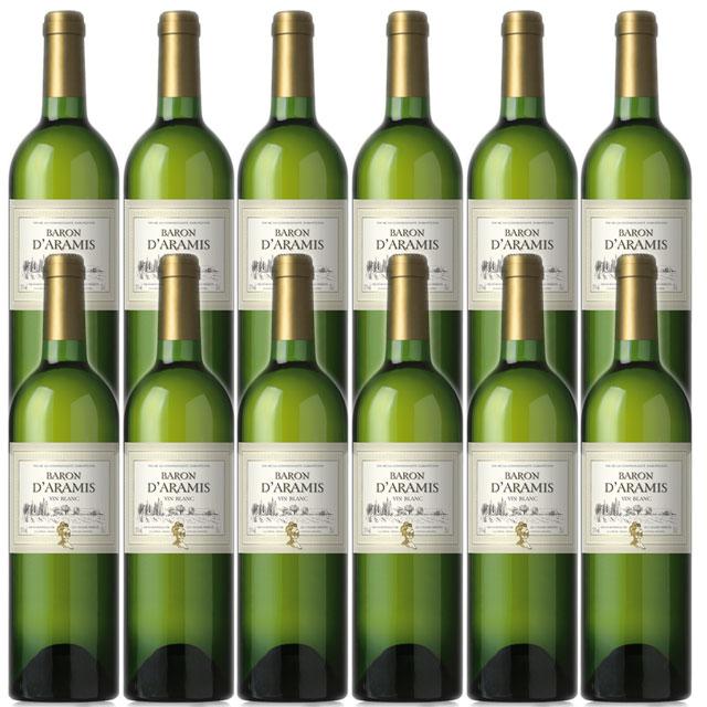 【送料無料 フランス産デイリーワイン】バロン ダラミス ブラン 750ml×12本 Baron d'Aramis Blanc