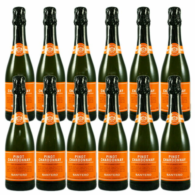 サンテロ ピノ・シャルドネ ハーフ12本セット グラス付 シャンパングラス
