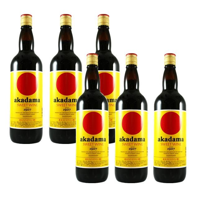 【送料無料】赤玉スイートワイン 赤 キングサイズ 1.8L×6本 akadama SWEET WINE