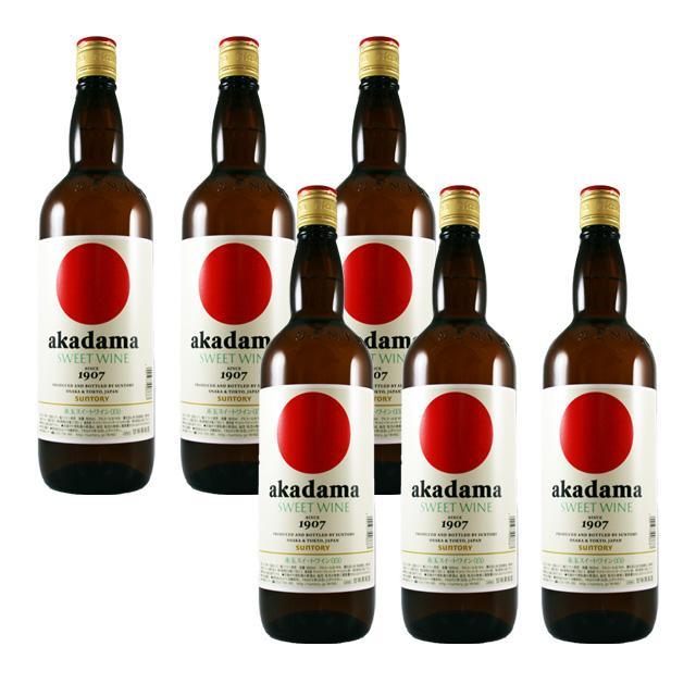 【送料無料】赤玉スイートワイン 白 キングサイズ 1.8L×6本 akadama SWEET WINE