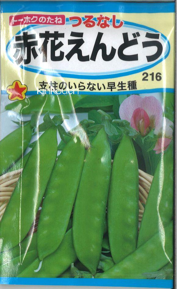 【代引不可】【5袋まで送料80円】 □つるなし赤花えんどう
