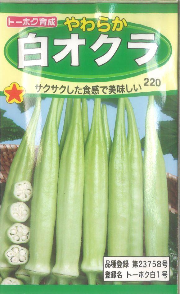【代引不可】【5袋まで送料80円】 □やわらか白オクラ