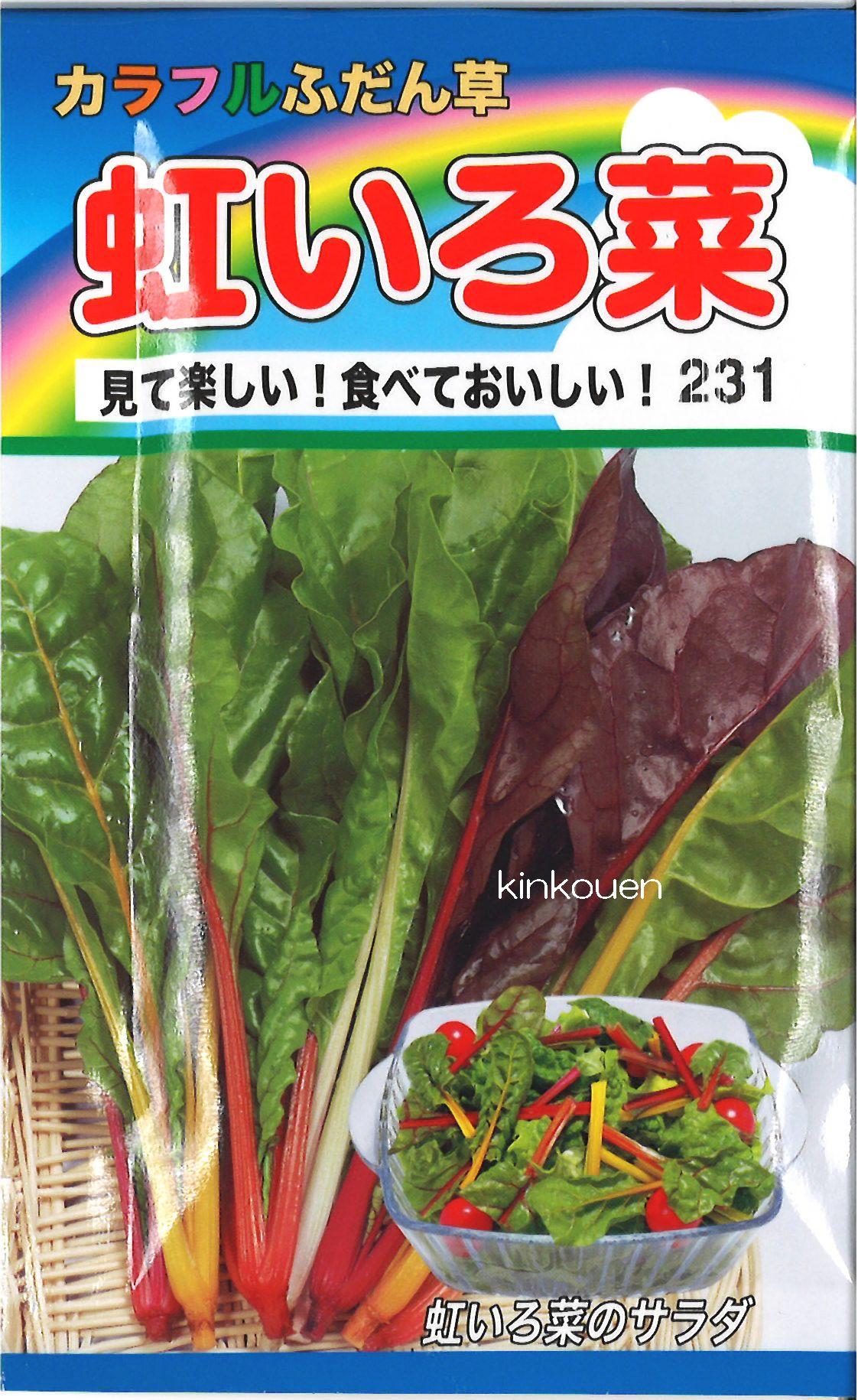《代引不可》《5袋まで送料80円》 □カラフルふだん草虹いろ菜