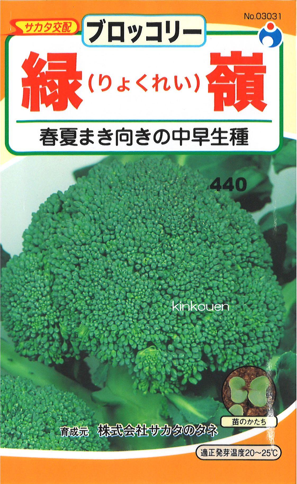 ≪代引不可≫≪5袋まで送料80円≫ □ブロッコリー緑嶺