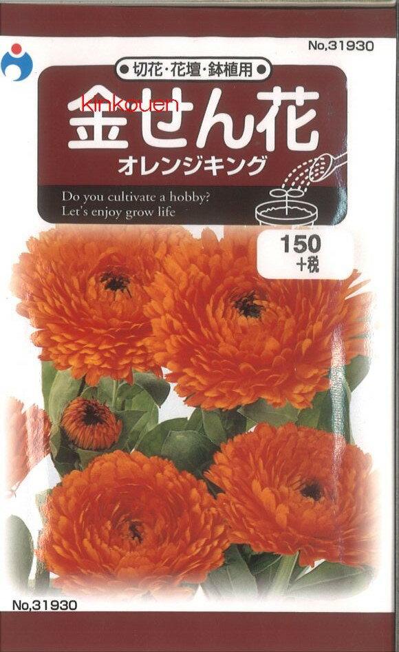 ≪代引不可≫≪5袋まで送料80円≫ □キンセンカ金せん花オレンジキング