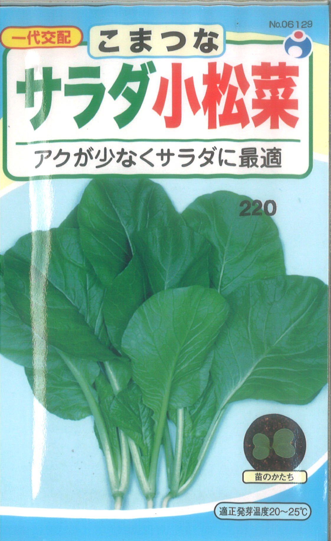 【代引不可】【5袋まで送料80円】 □ コマツナ サラダ小松菜