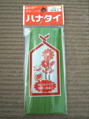 □ メール便★ハナタイ12cm×100本入りワサビ色