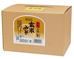 限定! 有機 立科 玄米みそ 箱入り 3.6kg