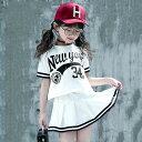 キッズダンス衣装 セットアップ チアダンス衣装 ダンス衣装 ヒップホップ チアリーダー 衣装 ジャズダンス 衣装 HIPHO…