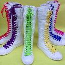 ダンスシューズ ロングスニーカー キャンパス shoes 原宿系 キャンパス風 レディースシューズ編み上げロングブーツ カ…